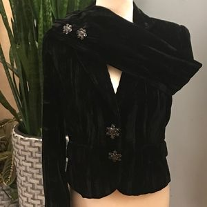 LBN! ECI New York Crushed Velvet Blazer/Jacket